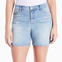 Women's Gloria Vanderbilt Majesty Embroidered Jean Shorts