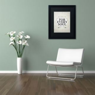 "Trademark Fine Art ""Every Soul"" Black Framed Wall Art"