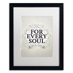 Trademark Fine Art 'Every Soul' Black Framed Wall Art
