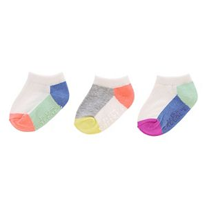Girls 4-8 Carter's 3-pk. Colorblock Socks