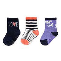 Girl 4-8 Carters 3 pkCrew Socks