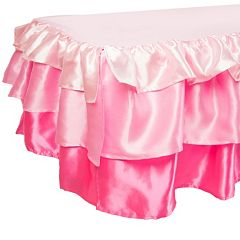 Tadpoles Tiered Ruffled Satin Twin Bed Skirt