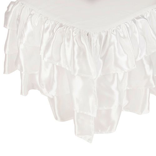 Tadpoles Tiered Ruffled Satin Twin Bed Skirt