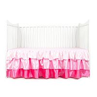 Tadpoles Tiered Ruffled Satin Crib Skirt