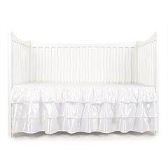 Tadpoles Tiered Ruffled Satin Crib Skirt