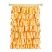 Tadpoles Tiered Ruffled Satin Window Curtain