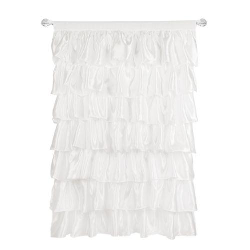 Tadpoles Tiered Ruffled Satin Curtain Panel