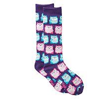 Girls 4-16 Pink Cookie Print Knee-High Sweater Socks