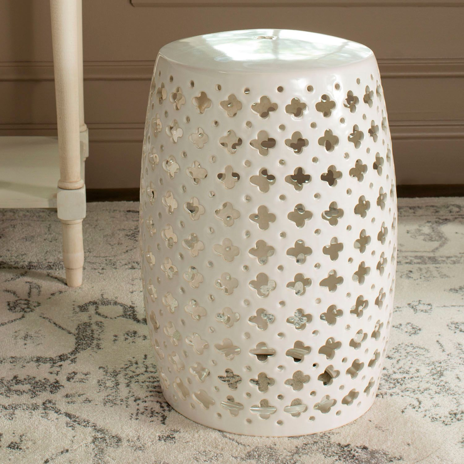 Charmant Safavieh Lacey Indoor / Outdoor Garden Stool