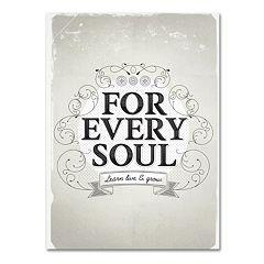 Trademark Fine Art 'Every Soul' Canvas Wall Art
