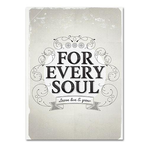 "Trademark Fine Art ""Every Soul"" Canvas Wall Art"
