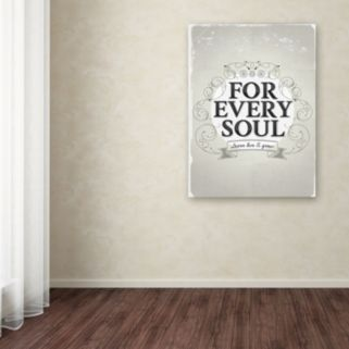 "Trademark Fine Art ""Every Soul"" Canvas Wall Art"