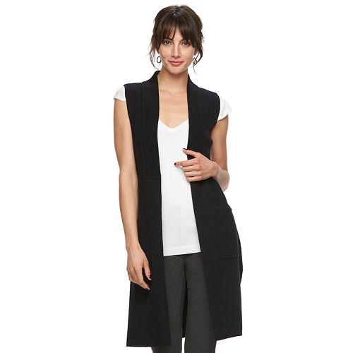 Women's ELLE™ Long Sweater Vest