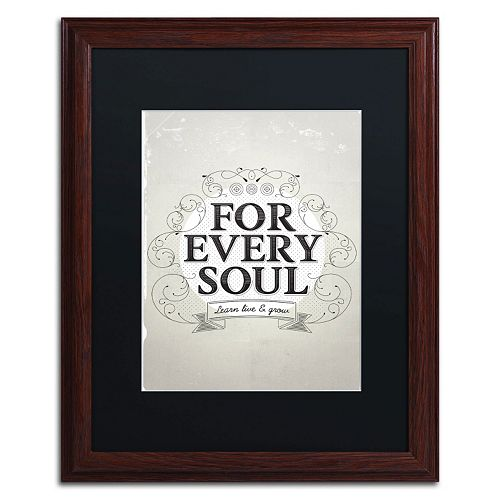 "Trademark Fine Art ""Every Soul"" Framed Wall Art"