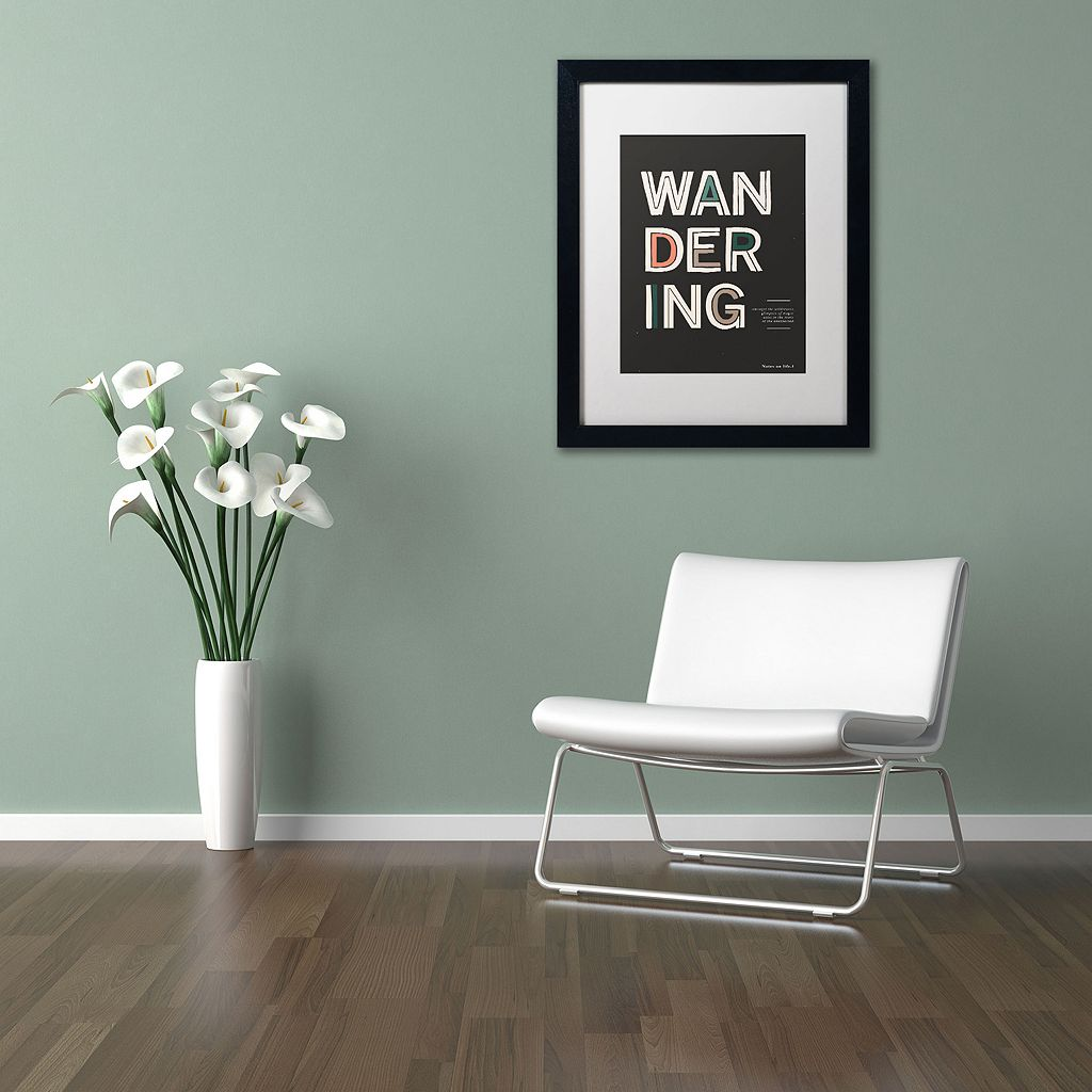 Trademark Fine Art The Unexpected Black Framed Wall Art