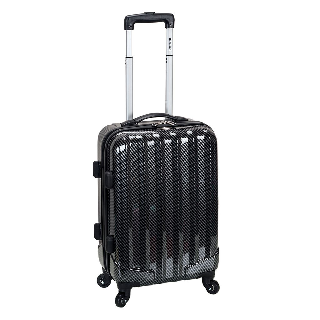 Rockland Melbourne Black Fiber 20-Inch Hardside Spinner Carry-On Luggage