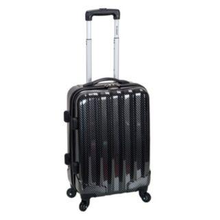 Rockland Melbourne Black Fiber 20-Inch Hardside Spinner Carry-On Luggage