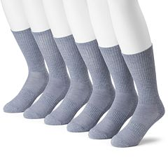 Men's Tek Gear® 6-pack CoolTek Performance Crew Socks