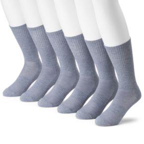 Men's Tek Gear® 6-pack CoolTek Performance Crew Socks