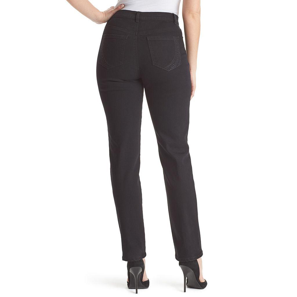 Petite Gloria Vanderbilt Amanda Classic Fit Embellished Jeans