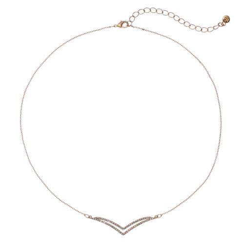LC Lauren Conrad Pave Arched Arrow Necklace
