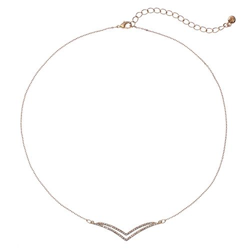LC Lauren Conrad Pave Arched Arrow Necklace
