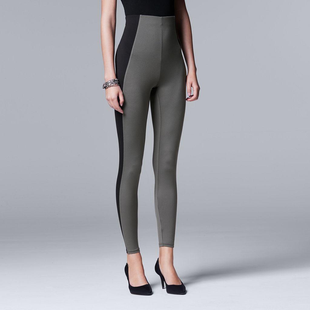 Simply Vera Vera Wang Soft Stretch Colorblock Leggings