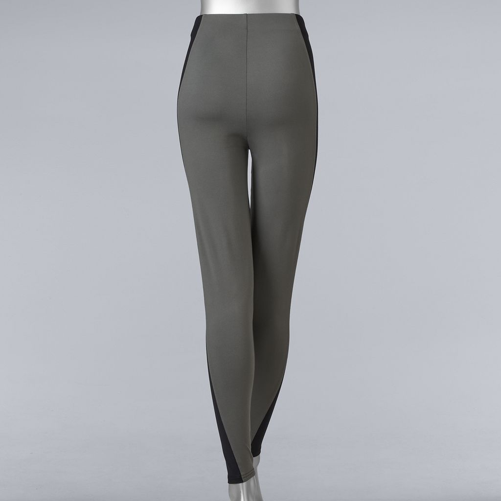 Simply Vera Vera Wang Soft Stretch Colorblock Leggings