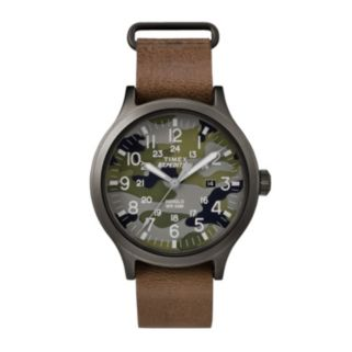 Timex Men's Expedition Scout 43 Camo Leather Watch