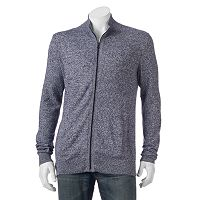 Big & Tall Marc Anthony Slim-Fit Marled Cashmere-Blend Cardigan
