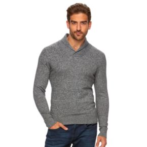 Big & Tall Marc Anthony Slim-Fit Marled Cashmere-Blend Merino Shawl Sweater