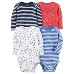 Baby Boy Carter's 4pk. Nautical Print Bodysuits