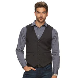 Big & Tall Marc Anthony Slim-Fit Textured Woven Vest