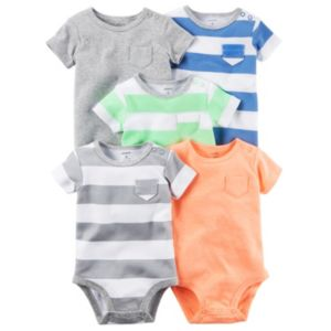 Baby Boy Carter's 5-pk. Striped & Solid Bodysuits