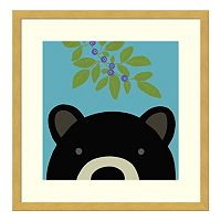 Peek-A-Boo Bear Framed Wall Art