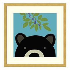 Peek-A-Boo Bear Framed Wall Art