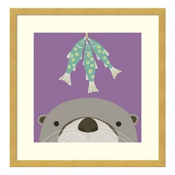 Peek-A-Boo Otter Framed Wall Art