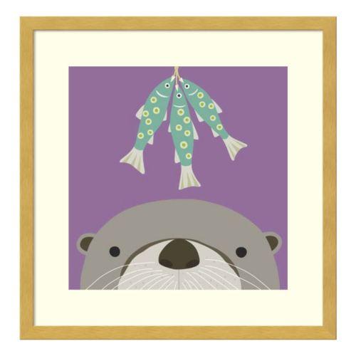 Peek-A-Boo Otter Framed Wall Art