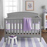 Breathable Baby Embossed Quatrefoil 4-pc. Crib Bedding Set
