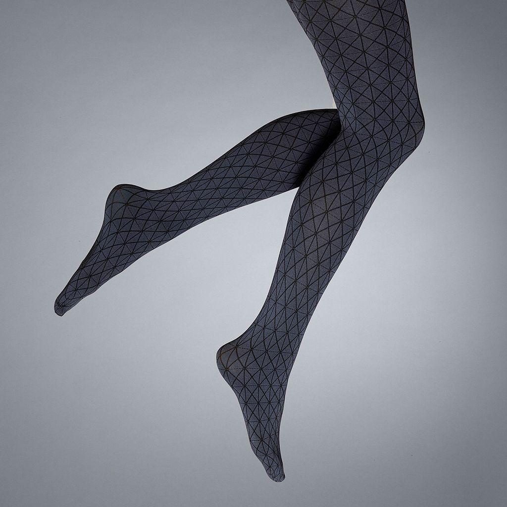 Simply Vera Vera Wang Geometric Control-Top Tights