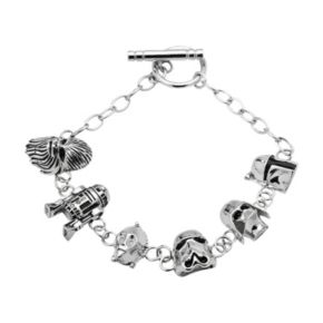 Star Wars Sterling Silver Charm Bracelet
