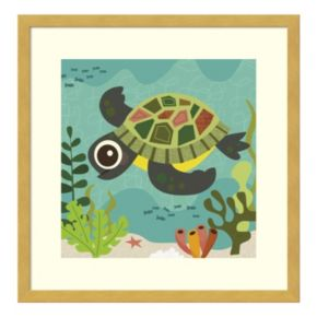 Terrance Turtle Framed Wall Art
