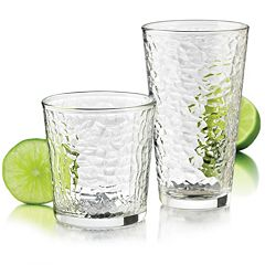 Food Network Ice 16 pc Glassware Set