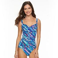 Women's Trimshaper Body Sculptor Control Printed One-Piece Swimsuit