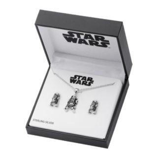 Star Wars Sterling Silver 3D R2-D2 Jewelry Set
