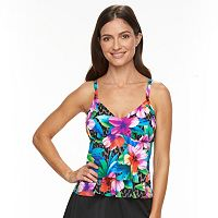 Women's Trimshaper Tummy Slimmer Tiered Tankini Top