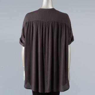 Women's Simply Vera Vera Wang Simply Separates Crinkle Top