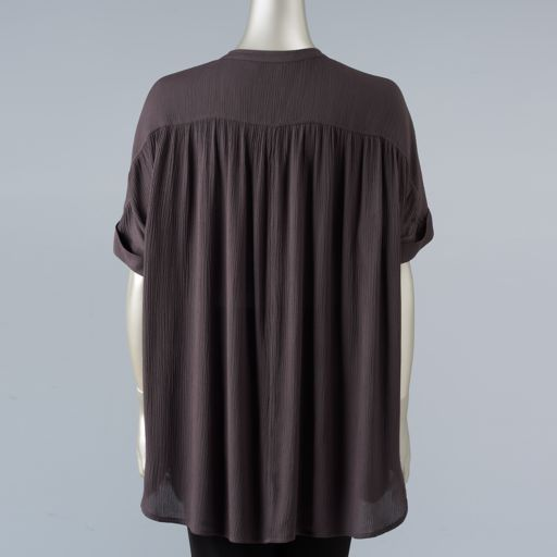 Women's Simply Vera Vera Wang Simply Separates Crinkle Top
