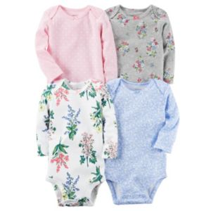 Baby Girl Carter's 4-pk. Print Bodysuits