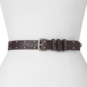 Relic Studded & Braided Belt